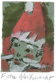 Helmut Rieger, Weihnachtsmann, 2011, Tusche. Foto: Museum Lothar Fischer
