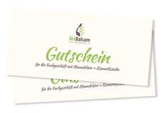 Geschenkgutscheine bei BioBalsam Naturkosmetik kaufen