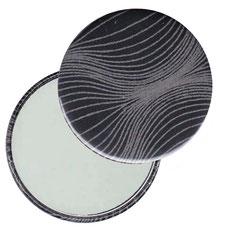 Taschenspiegel, Handspiegel, Button,59 mm,Baumwoll Papier,Zwiebelmuster grau auf schwarz