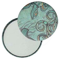 Taschenspiegel, Handspiegel, Button,59 mm,Florentiner Papier ,Seeworld, Unterwasser Welt