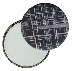Taschenspiegel, Handspiegel, Button,59 mm,Baumwoll Papier,black gold silver