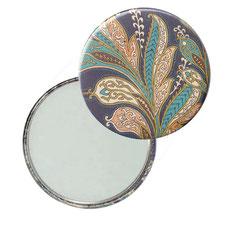 Taschenspiegel, Handspiegel, Button,59 mm,Florentiner Papier La Boheme