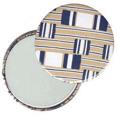 Taschenspiegel, Handspiegel, Button,59 mm,Baumwoll Papier,Dandy blue