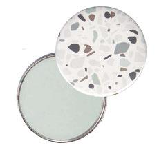 Taschenspiegel, Handspiegel, Button,59 mm,Florentiner Papier Terrazzo mit Golddruck