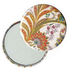 Taschenspiegel, Handspiegel, Button,59 mm,Florentiner Papier ,Cipro