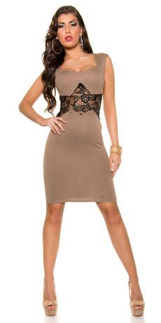 Etui-Kleid mit Spitze
