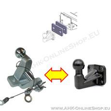 Wechselplatte Zugmaul und AHK-Bock