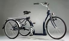 In Balance mit einem Dreirad