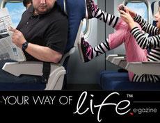 Gonnie Klein Rouweler, Columnist Your Way of Life e-gazine, etiquette vliegen, vliegtuig