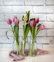 Tuplen Strauß Blumenstrauß Frühjahrsmüdigkeit Frühling Healthlove