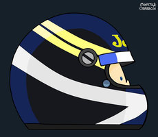 Helmet of Johnny Dumfries by Muneta & Cerracín