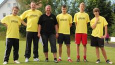 v.l.n.r.: Marc Steffen, Dirk Eulenbach, Peter Oberndorfer, Daniel Koller, Julian von Känel, Andreas Wenger