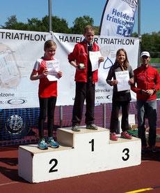Paula Drews belegte in ihrer Altersklasse den dritten Platz. Super, Paula!