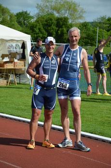 M Drews und Detlef Meinert lieferten sich ein spannendes Rennen.