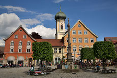 Der Marktplatz von Immenstadt im Allgäu