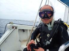 石垣島の海にエントリー