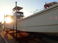 ヒートハートクラブのダイビングボート「HARU」号
