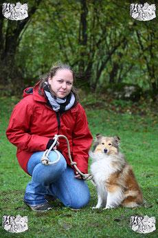 ec chiens Laudine Roussy educateur canin et comportementaliste canin formée pour apprendre au maître comment dresser son chien