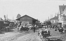 Mostobstverlad beim Güterschuppen Station Heerbrugg, um 1920