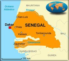 Acción Papalagi 2013 Bantancountou - Grupo Scout Chaminade de Cádiz - Mapa Senegal