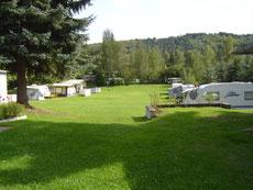 Blick auf den Campingplatz Lisa Schaepmann