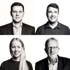 Die neue FDP-Ratsfraktion: (v.o.l.n.u.r. Patrick Büker, Simon Gerhard, Berit Seidel, Michael zur Heiden