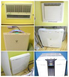 多数の空気清浄機・電解水加湿器