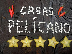 Picture from Starfruit and moussels in form of Casas Pelicano like a script