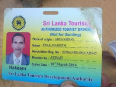 Bild: Ausweis von Akeem, dem Tuk-Tuk Fahrer