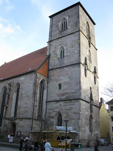 Blick vom Westen: Jakobikirche heute