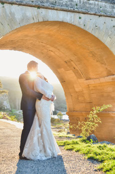 Trash the dress au Pont du Gard