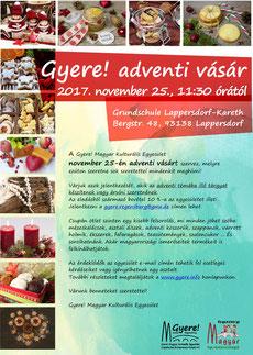 magyar iskola regensburg, adventi vásár, családi program, gyere magyar kulturális egyesület