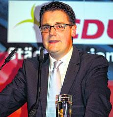 Dr. Tim Grüttemeier vor seiner einstimmigen Nominierung im Rolandshaus