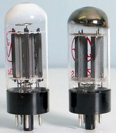 Lampes H.S. fendue à cause d'u choc thermique ou physique :  l'air est entré à l'intérieur le getter est blanc.