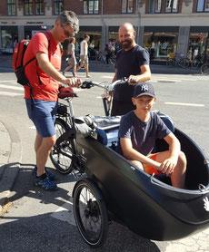 Treffen mit Sammy Eisinger, Gründer von Triobike in Kopenhagen