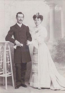 Mariage d'Yvonne Chollet et de Louis Durand en 1906