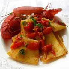Paccheri con astice e calamaretti ricetta facile