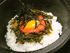 ピリ辛石焼き明太高菜ごはん
