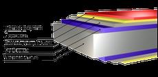 профнастил с цветным полимерным покрытием (полиэстер)