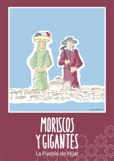 """Portada libro monografico sobre """"Moriscos y Gigantes en La Puebla de Híjar"""""""