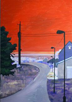 roter Himmel, 2008, Öl auf Leinwand, 240 x 170 cm