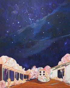 Bei Nacht, 2013, Öl auf Leinwand, 240 x 170 cm