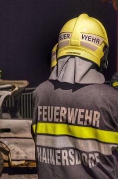 Feuerwehrmann der FF Hainersdorf
