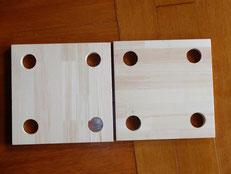 赤松集成材の自作スピーカーボックス 加工途中①