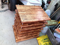 ハードメープル 集成材 自作 オーディオラック 蜜蝋処理