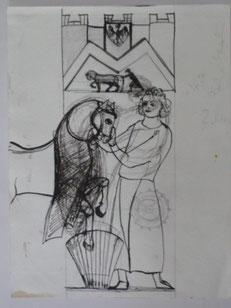 Tafel 47 Chevalier 24 x 18 Federzeichnung 1999
