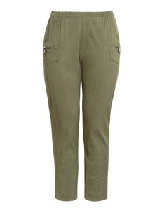 khaki Damenhose für mollige Frauen , Damenhose Gr 54