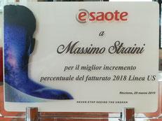 Marzo 2010 - Medical Idea Srl - Premio Miglior Incremento Percentuale del Fatturato 2009 Bioimmagini Esaote S.p.A. in Italia