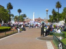 In Buenos Aires wird heute gestreikt - wie fast jeden Tag!