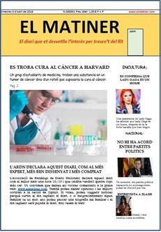 Cliqueu la portada per llegir el diari